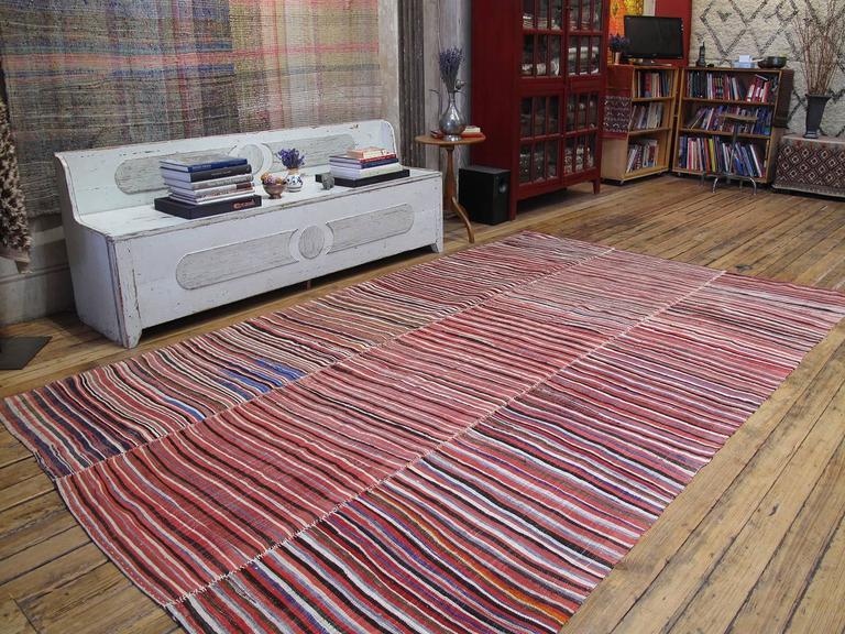 Striped Mazanderan Kilim 2