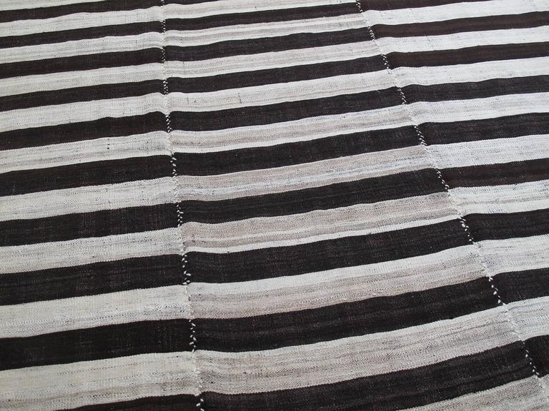 Persian Banded Mazanderan Kilim For Sale