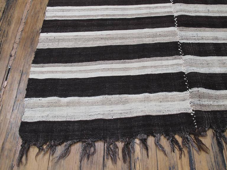 Banded Mazanderan Kilim In Good Condition For Sale In New York, NY