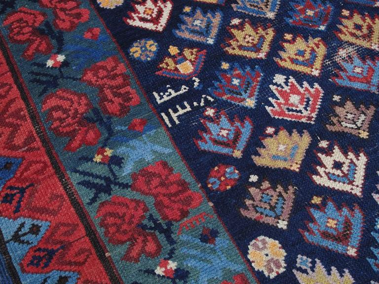 Antique Kuba Long Rug With Gentle Wear For Sale At 1stdibs