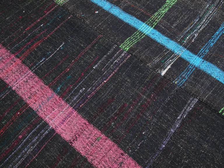 Hand-Woven Neon on Goat Hair For Sale