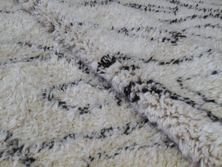 Wool Excellent Beni Ouarain Moroccan Berber Carpet For Sale
