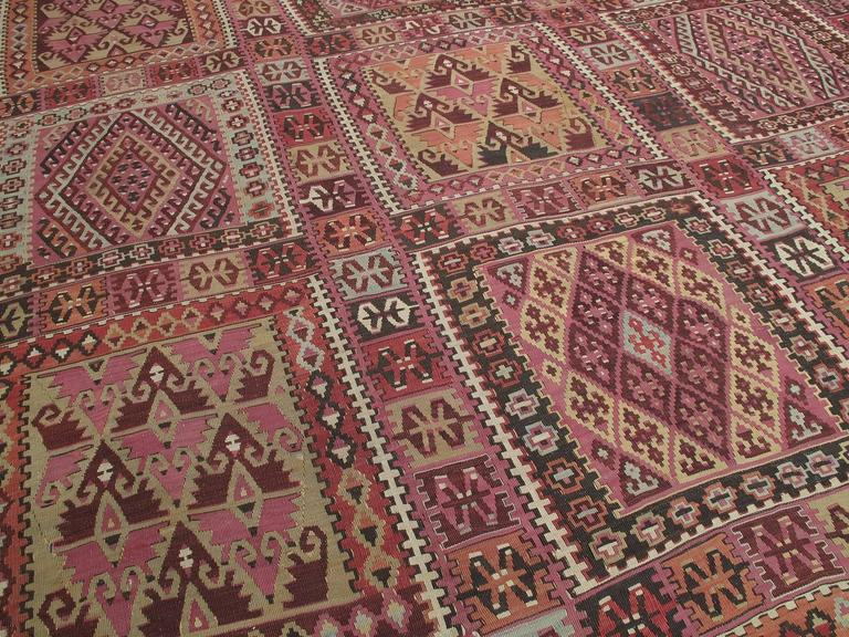 Hand-Woven Superb Antique East Anatolian Kilim Rug For Sale