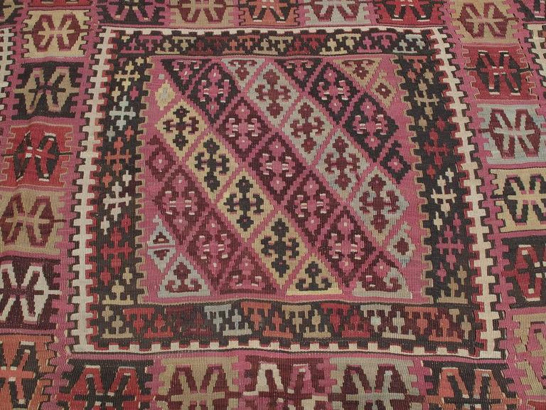 19th Century Superb Antique East Anatolian Kilim Rug For Sale