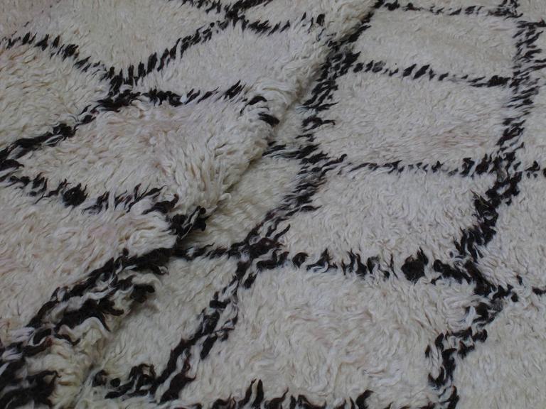 Massive Beni Ouarain Moroccan Carpet For Sale 1
