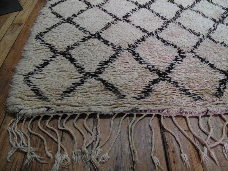 Massive Beni Ouarain Moroccan Carpet For Sale 2