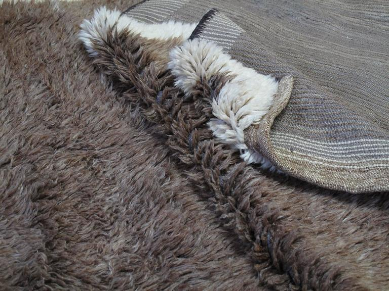 Brown Tulu with Border and Center For Sale 1