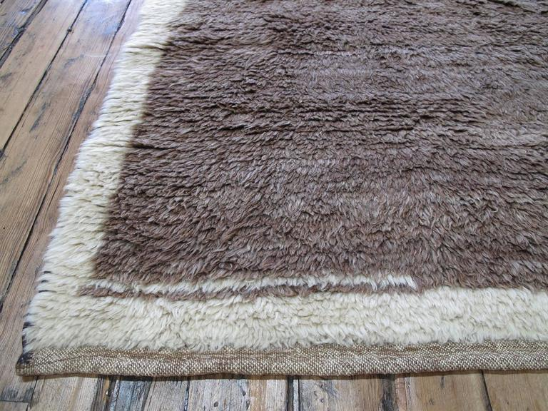 Brown Tulu with Border and Center For Sale 2