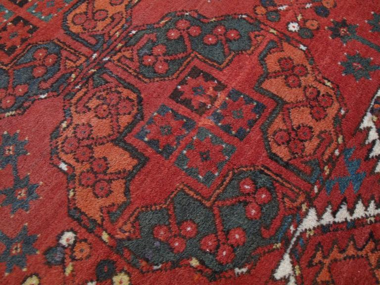 Hand-Knotted Antique Ersari Main Carpet For Sale