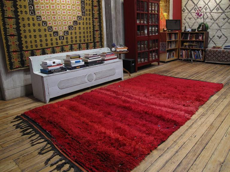 "Tribal ""Firebird"", Zayan Moroccan Berber Carpet For Sale"