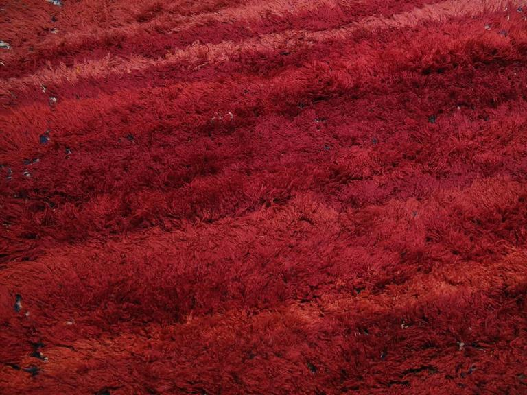 "Hand-Knotted ""Firebird"", Zayan Moroccan Berber Carpet For Sale"