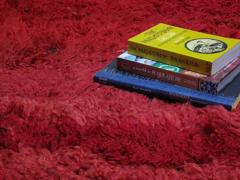 "Wool ""Firebird"", Zayan Moroccan Berber Carpet For Sale"