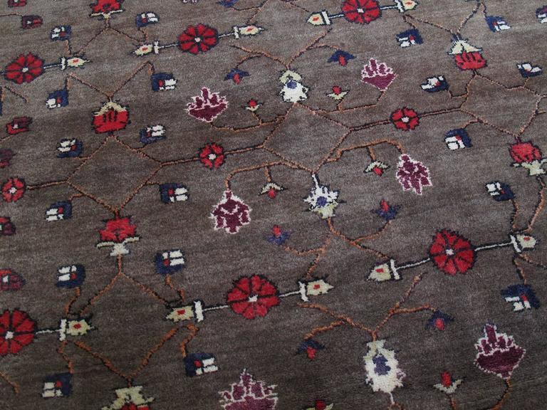 Karapinar Rug with Flower Lattice Design 3