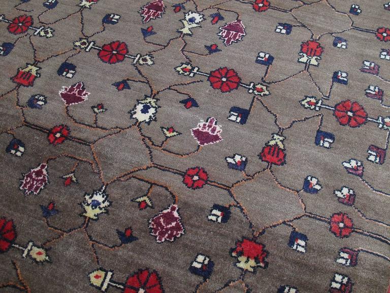 Karapinar Rug with Flower Lattice Design 4