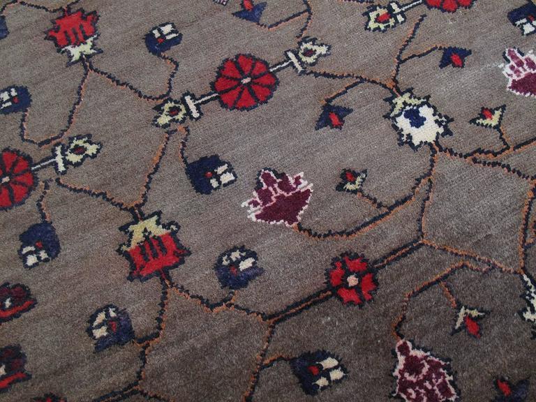 Karapinar Rug with Flower Lattice Design 5