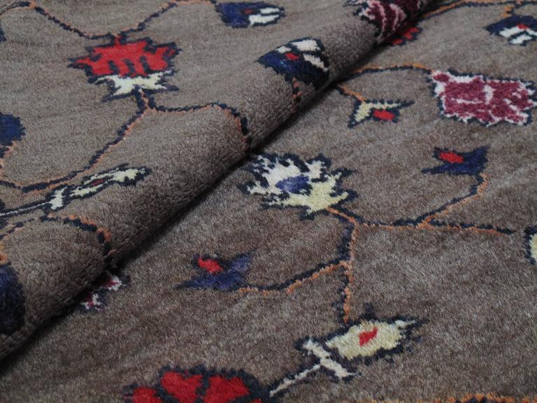 Karapinar Rug with Flower Lattice Design 7