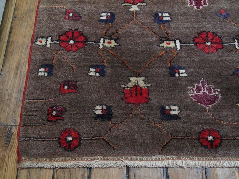 Karapinar Rug with Flower Lattice Design 8
