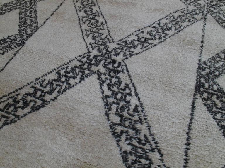 Hand-Knotted Unusual Marmoucha Berber Moroccan Rug For Sale