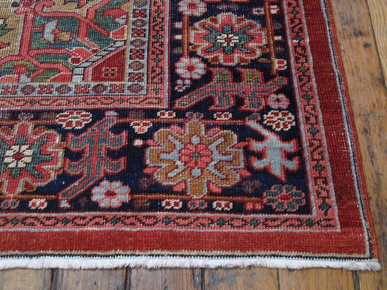 Antique Heriz Carpet with Gentle Wear For Sale 1