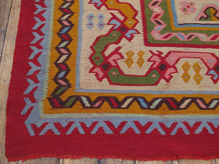 Fantastic Antique Oushak Kilim For Sale 2