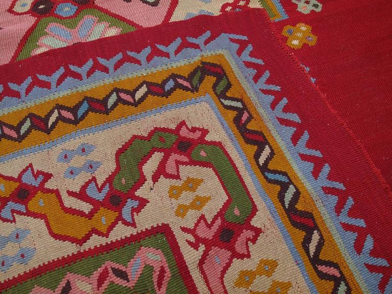Fantastic Antique Oushak Kilim Rug For Sale 3