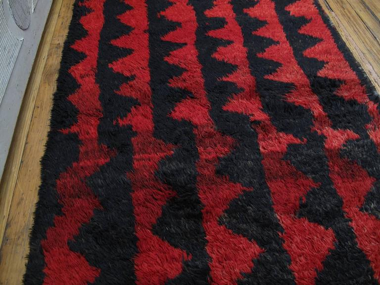 "Turkish ""Sawtooth"" Tulu Rug For Sale"