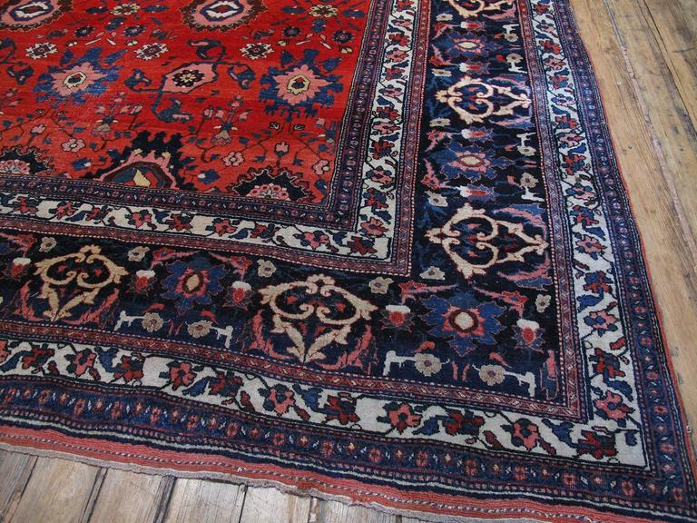 Large Antique Bidjar Carpet 9