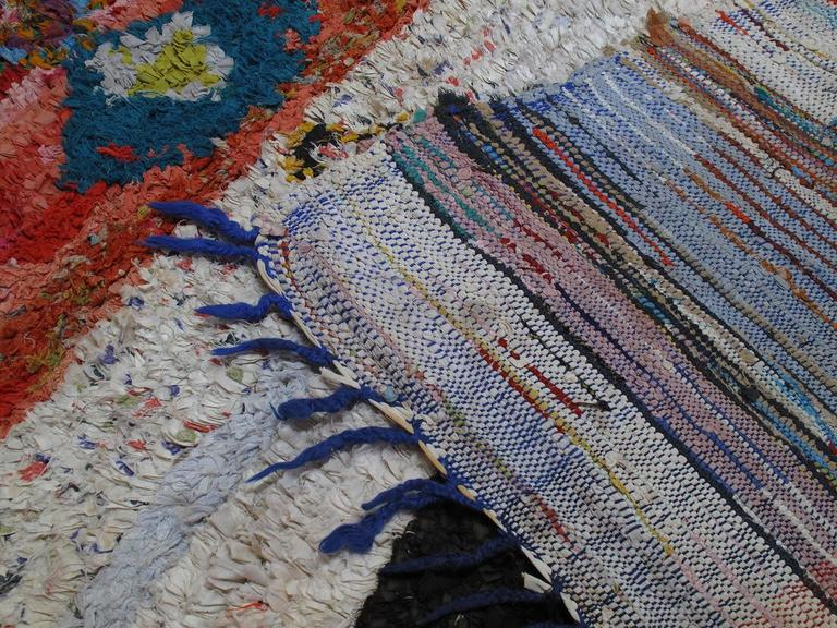"""Boucherouite"" Moroccan Rug For Sale 4"