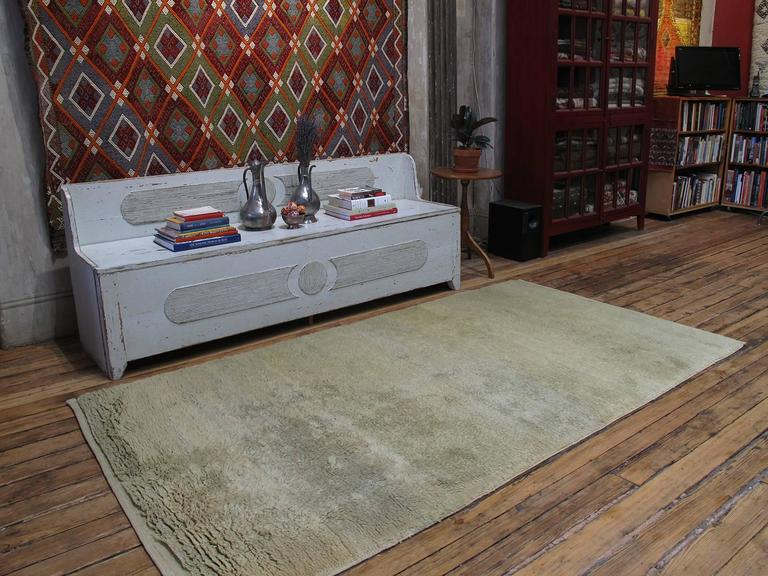 A simple old tribal rug from Central Turkey, woven in the shaggy