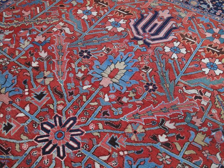 Antique Heriz Carpet 4