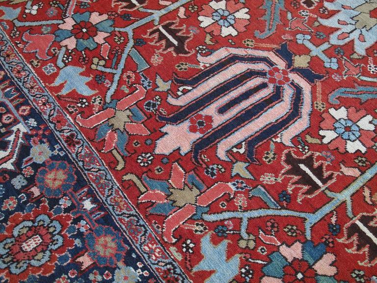 Antique Heriz Carpet 6