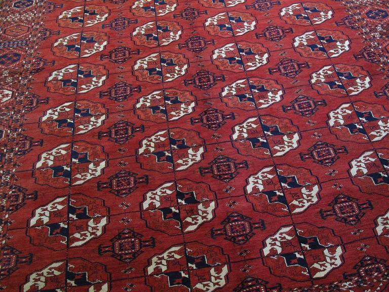 Tribal Antique Turkmen Main Carpet For Sale