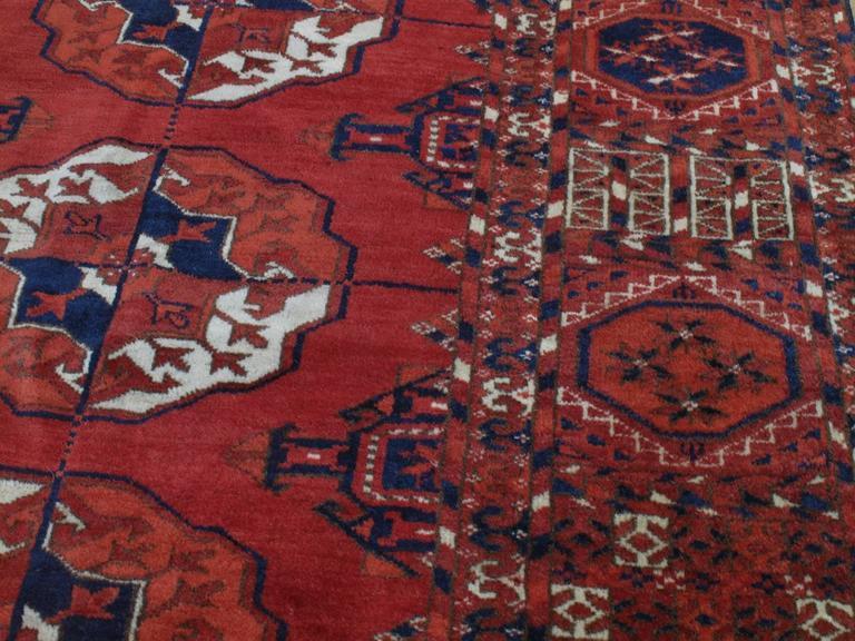 19th Century Antique Turkmen Main Carpet For Sale