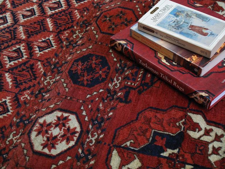 Wool Antique Turkmen Main Carpet For Sale
