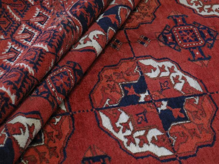 Antique Turkmen Main Carpet For Sale 1