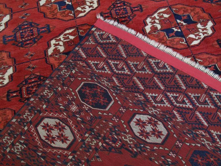 Antique Turkmen Main Carpet For Sale 3