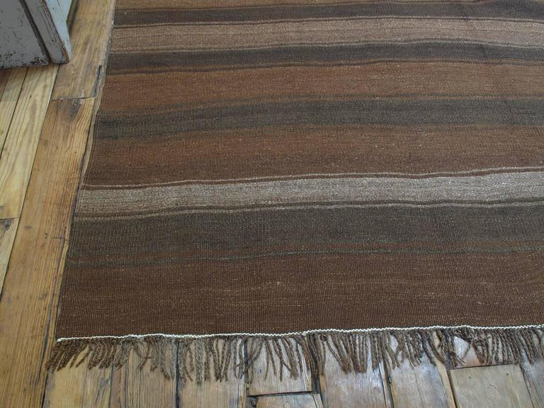 Kilim Rug with Wavy Bands For Sale 1