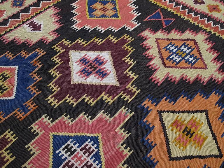 20th Century Large Azeri Kilim Rug For Sale