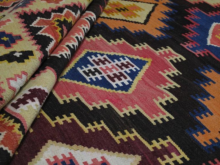 Large Azeri Kilim Rug For Sale 1
