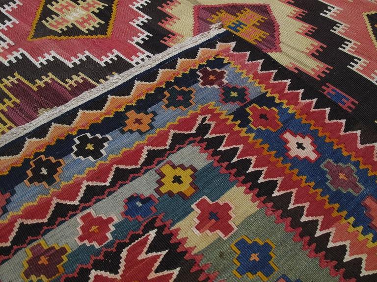 Large Azeri Kilim Rug For Sale 3