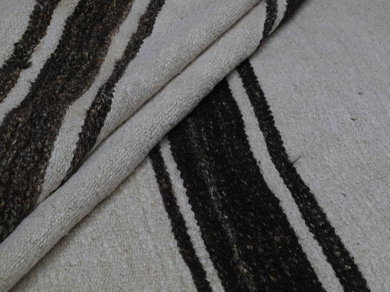 Banded Jute Kilim Rug For Sale 1