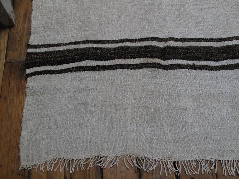Banded Jute Kilim Rug For Sale 2