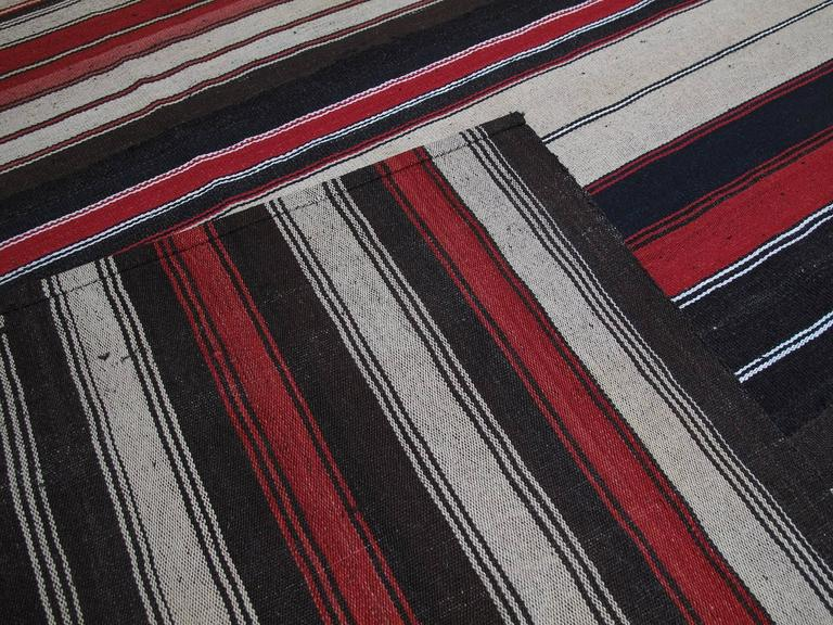 Large Kilim with Vertical Stripes For Sale 2