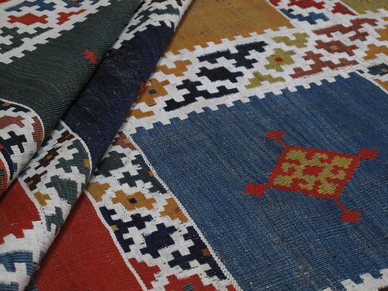 Antique Qashqai Kilim Rug For Sale 1