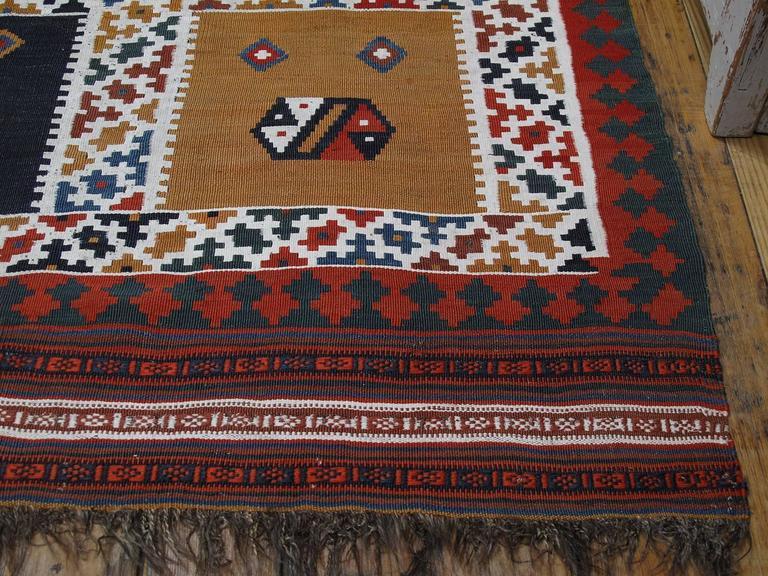 Antique Qashqai Kilim Rug For Sale 2