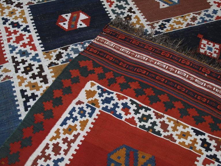 Antique Qashqai Kilim Rug For Sale 3