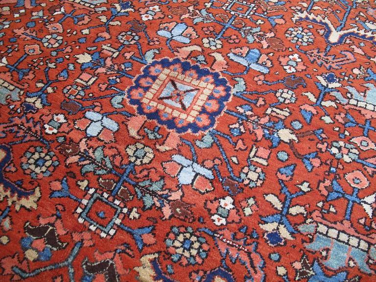 Persian Antique Heriz Carpet For Sale