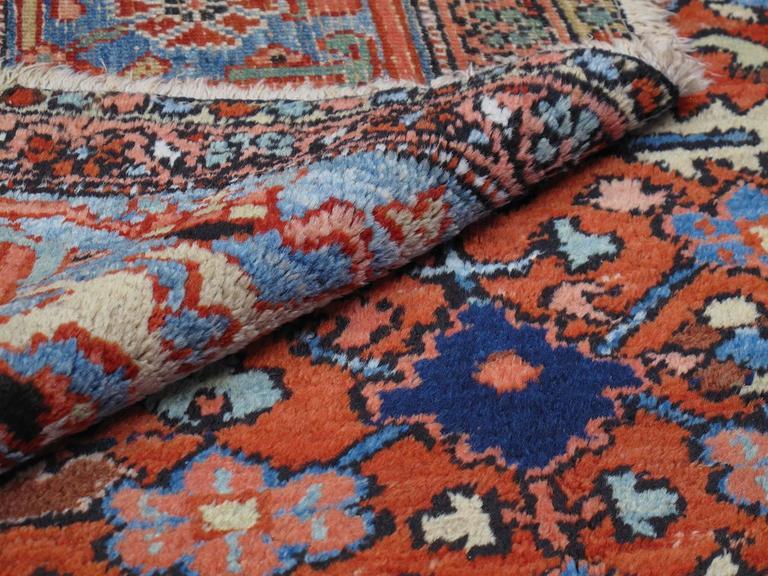 19th Century Antique Heriz Carpet For Sale