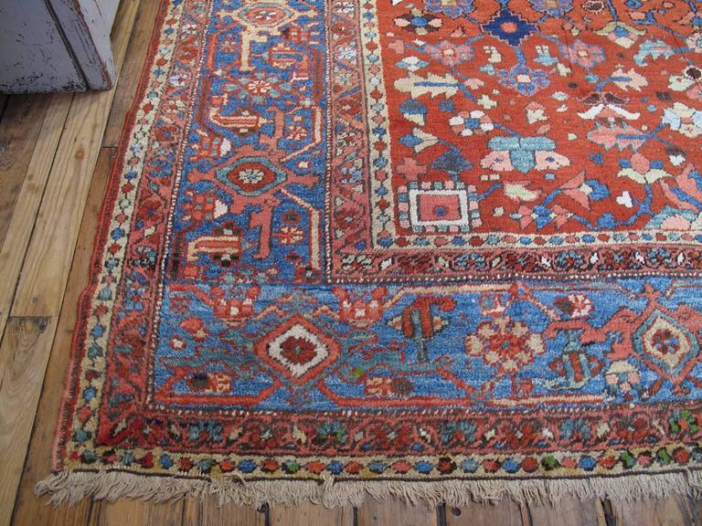 Wool Antique Heriz Carpet For Sale