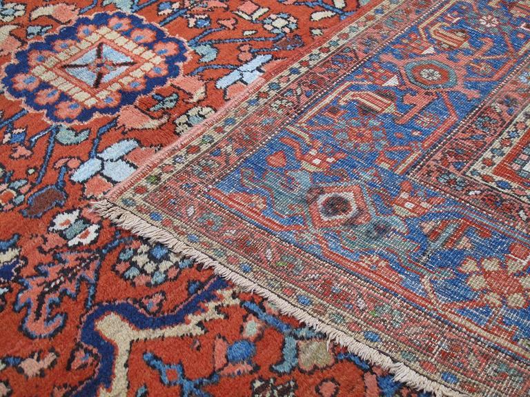 Antique Heriz Carpet For Sale 1